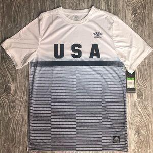 (NWT) Men's M UMBRO White USA Soccer Kit/Top